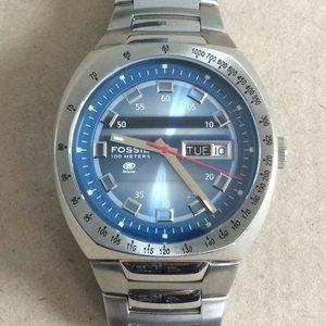 NIB Fossil Blue 100 Meters Watch